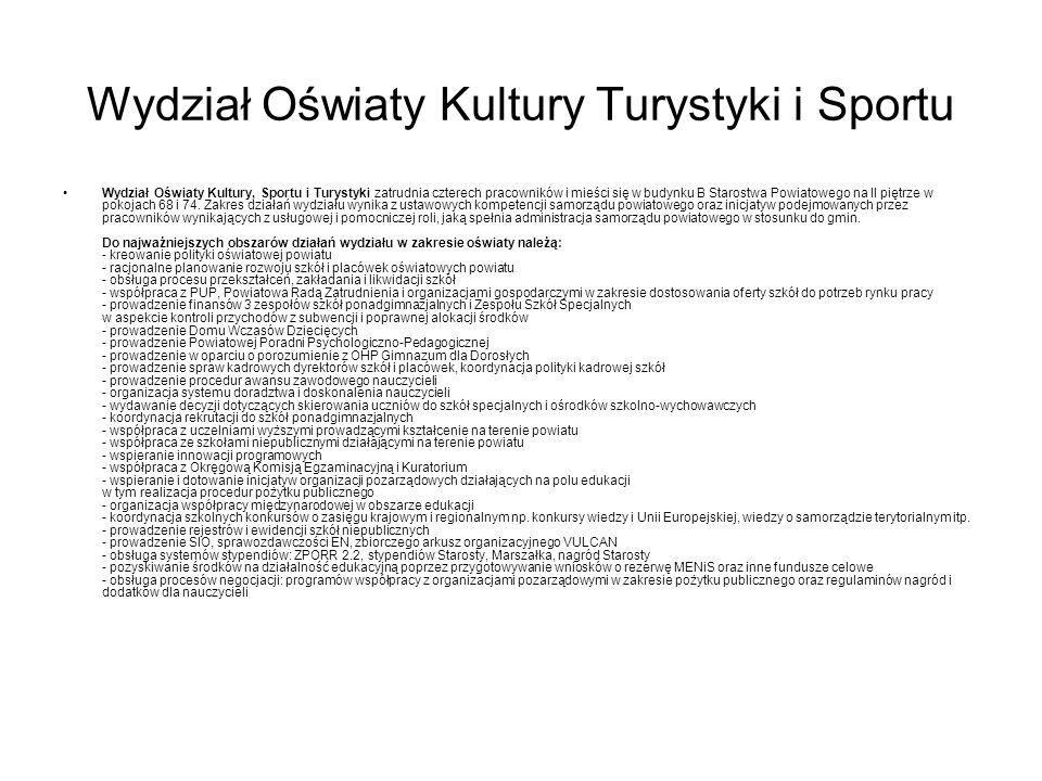 Wydział Oświaty Kultury Turystyki i Sportu