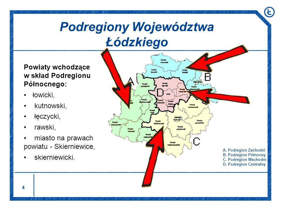Podregiony Województwa Łódzkiego