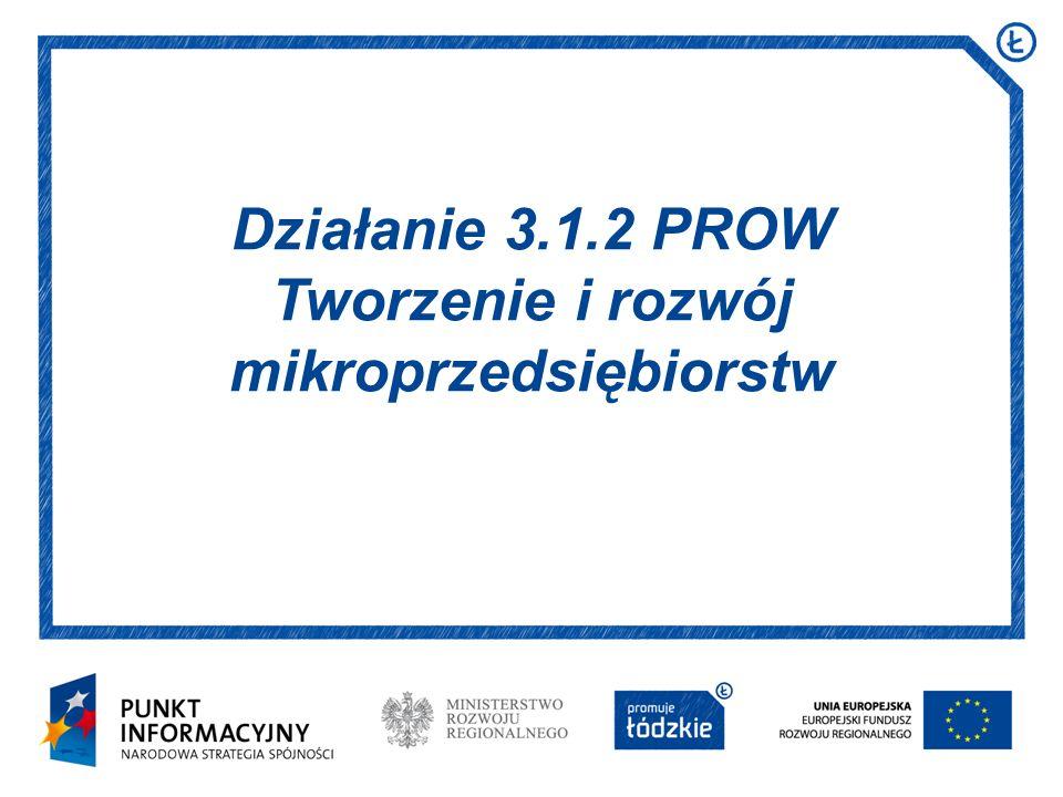 Działanie 3.1.2 PROW Tworzenie i rozwój mikroprzedsiębiorstw
