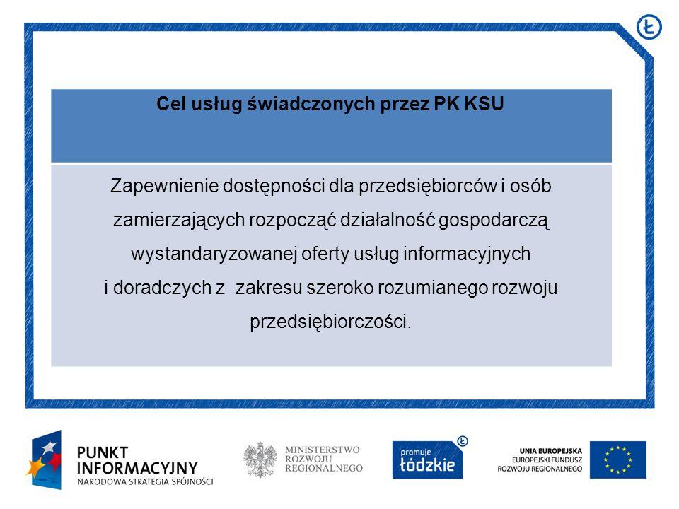 Cel usług świadczonych przez PK KSU