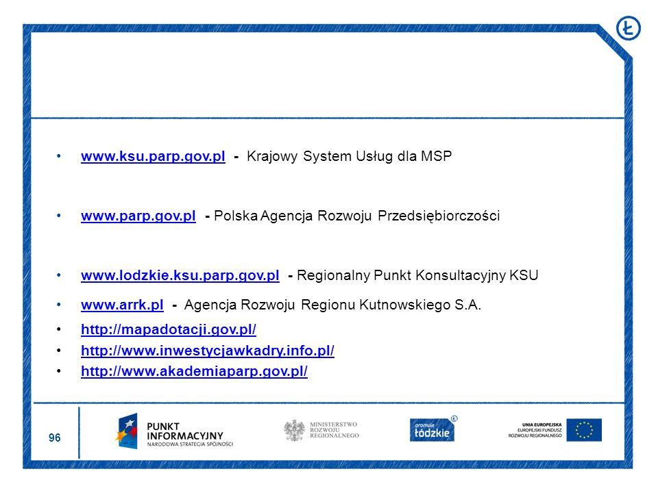 www.ksu.parp.gov.pl - Krajowy System Usług dla MSP