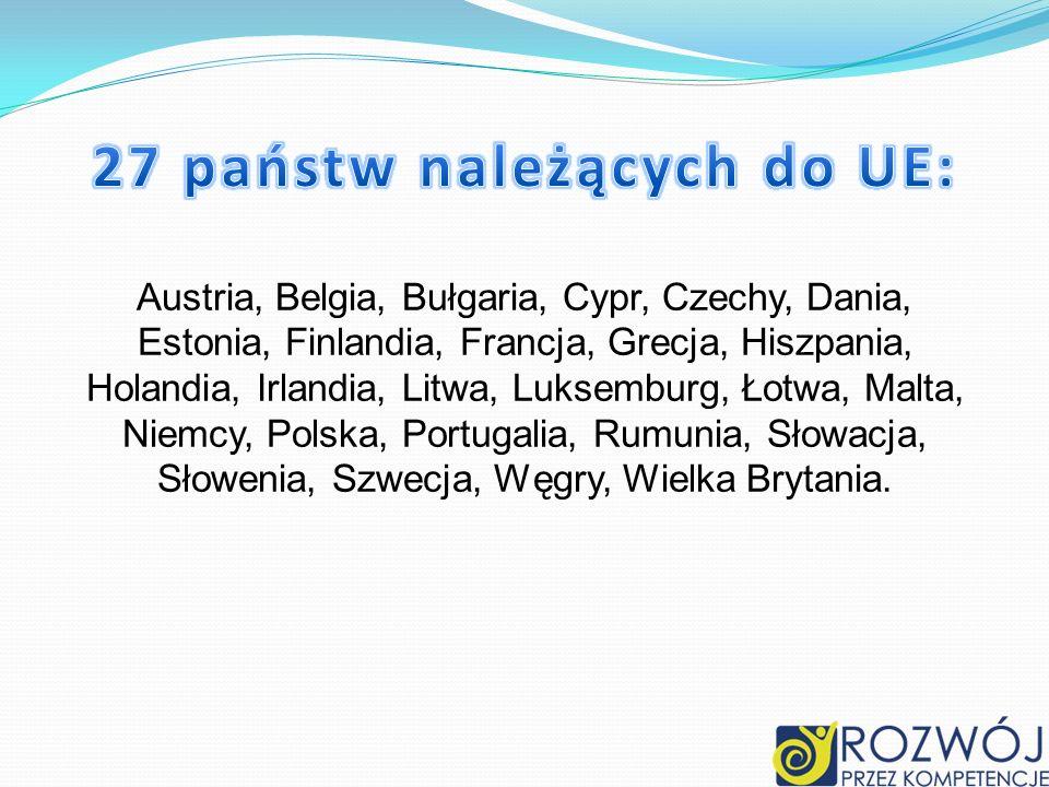 27 państw należących do UE: