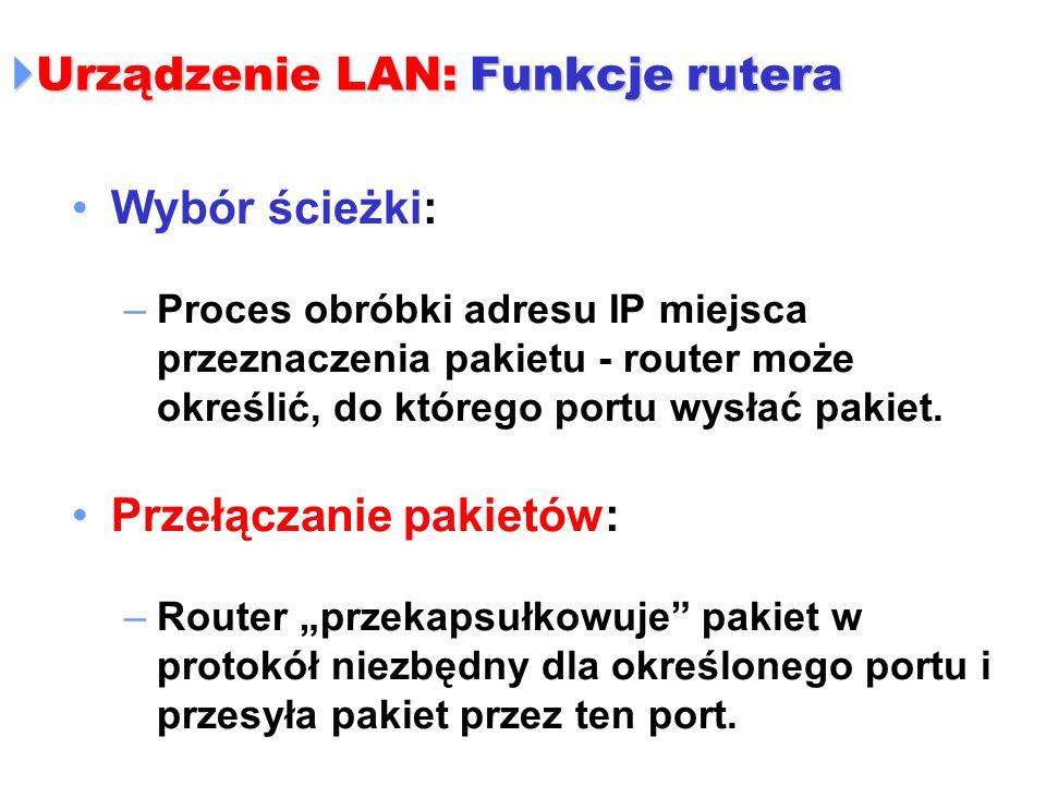 Urządzenie LAN: Funkcje rutera