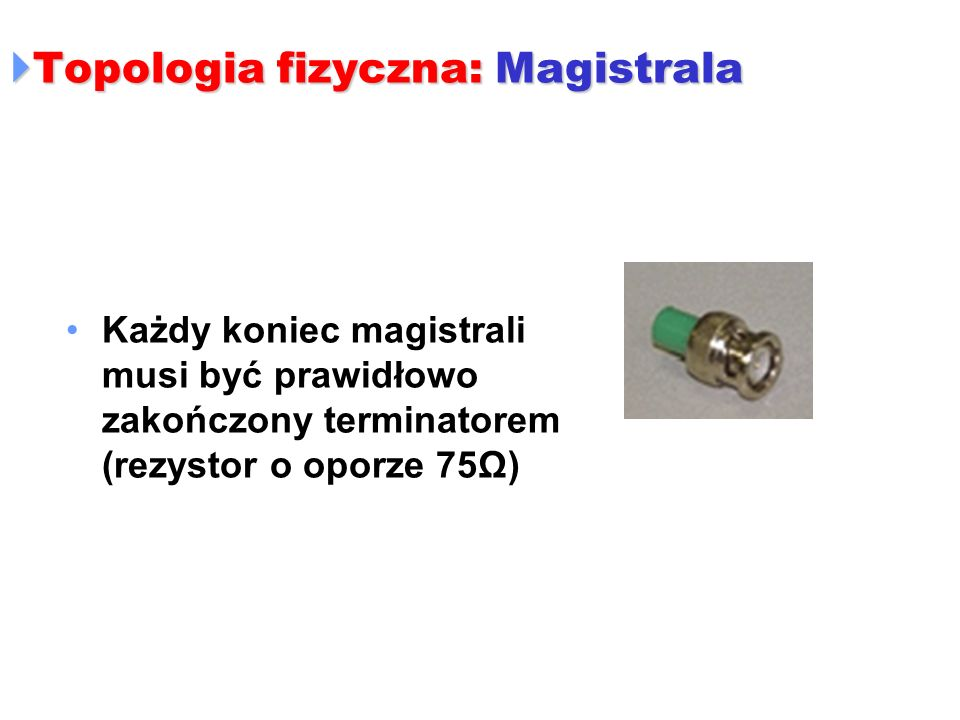 Topologia fizyczna: Magistrala