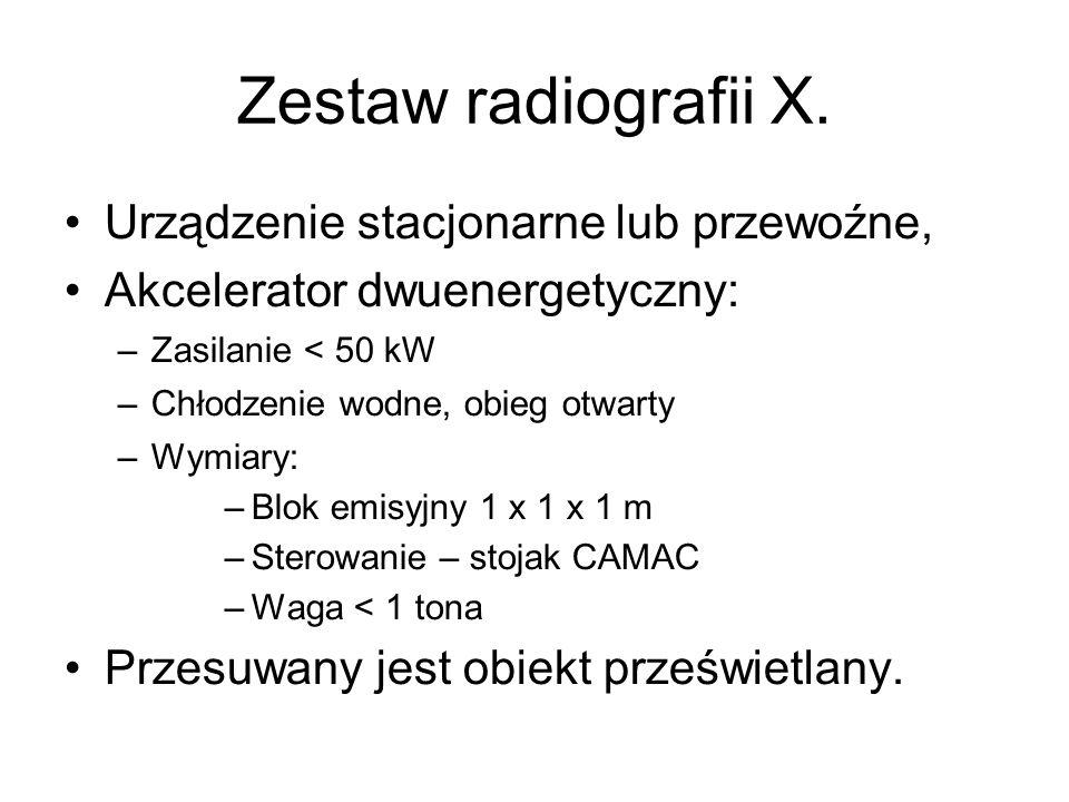 Zestaw radiografii X. Urządzenie stacjonarne lub przewoźne,