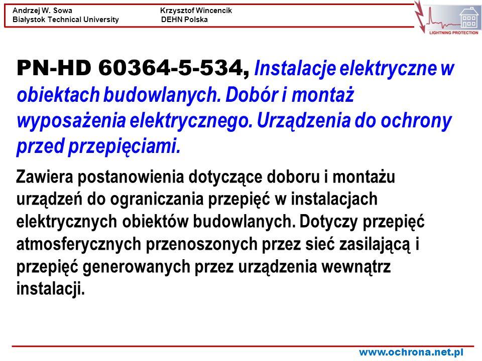 PN-HD 60364-5-534, Instalacje elektryczne w obiektach budowlanych