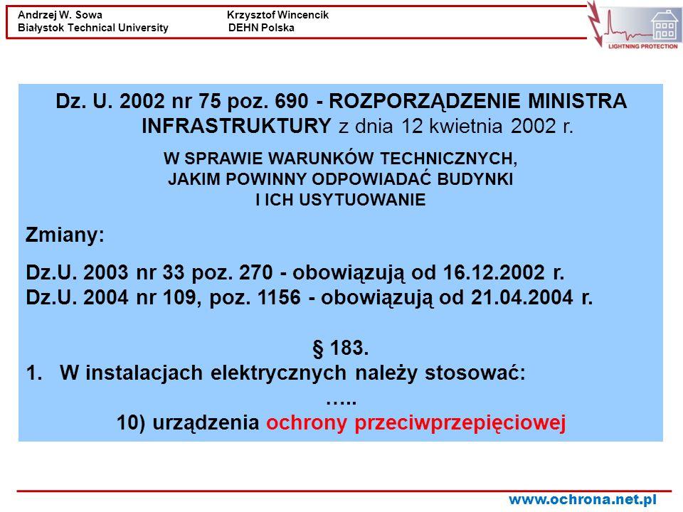 Dz.U. 2003 nr 33 poz. 270 - obowiązują od 16.12.2002 r.