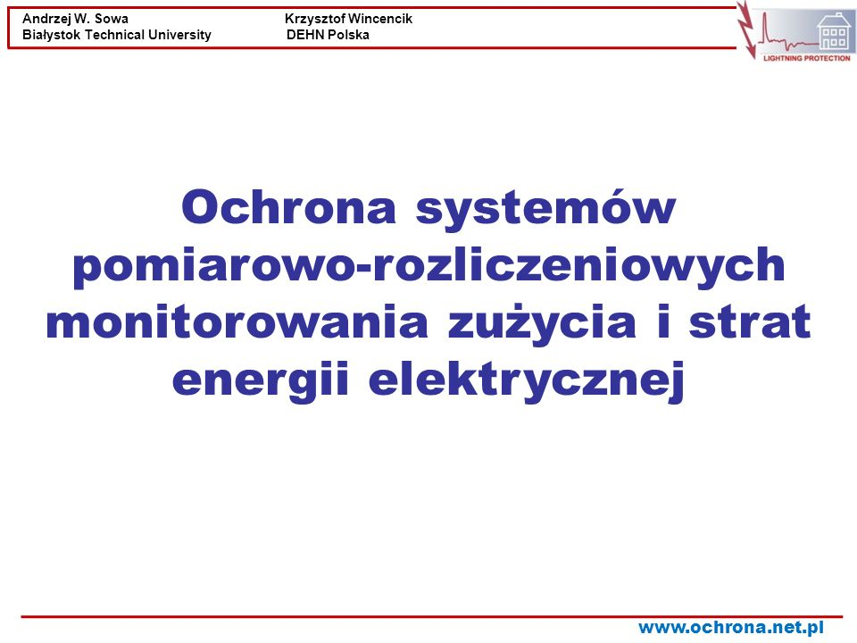 Ochrona systemów pomiarowo-rozliczeniowych