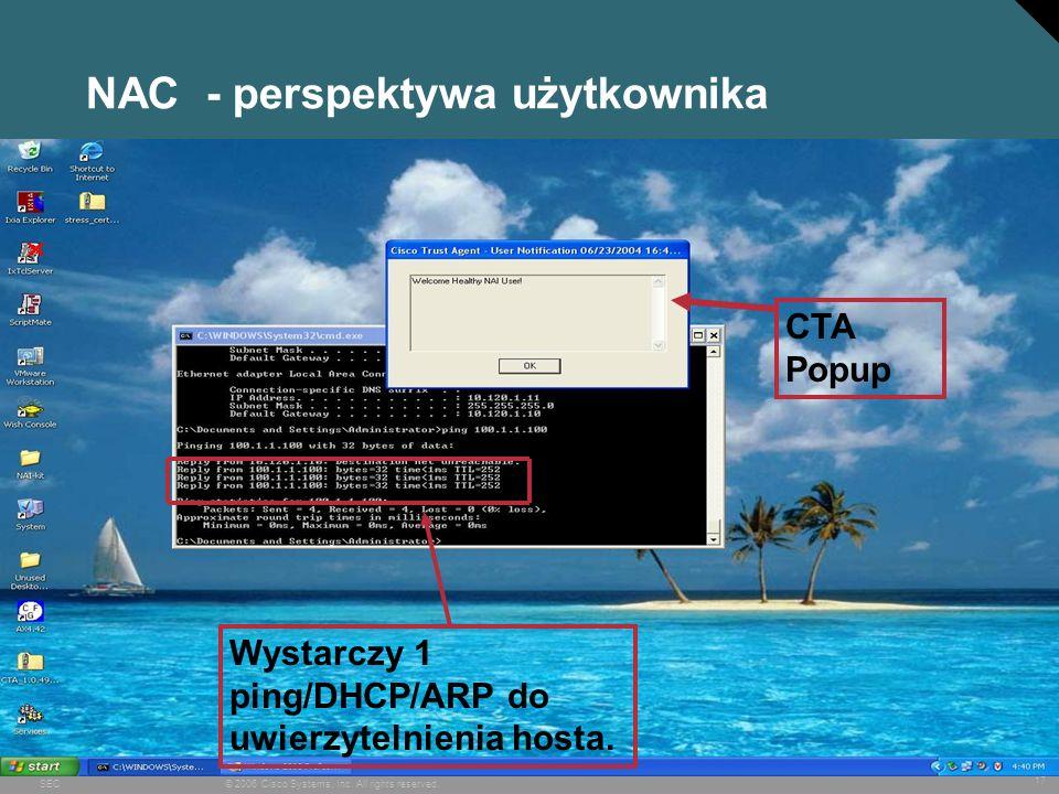 NAC - perspektywa użytkownika