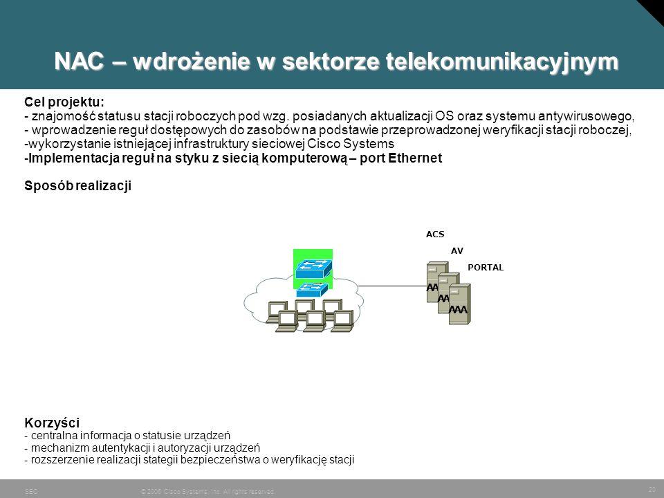 NAC – wdrożenie w sektorze telekomunikacyjnym