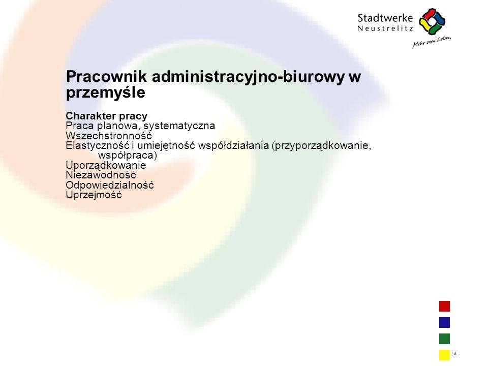 Pracownik administracyjno-biurowy w przemyśle
