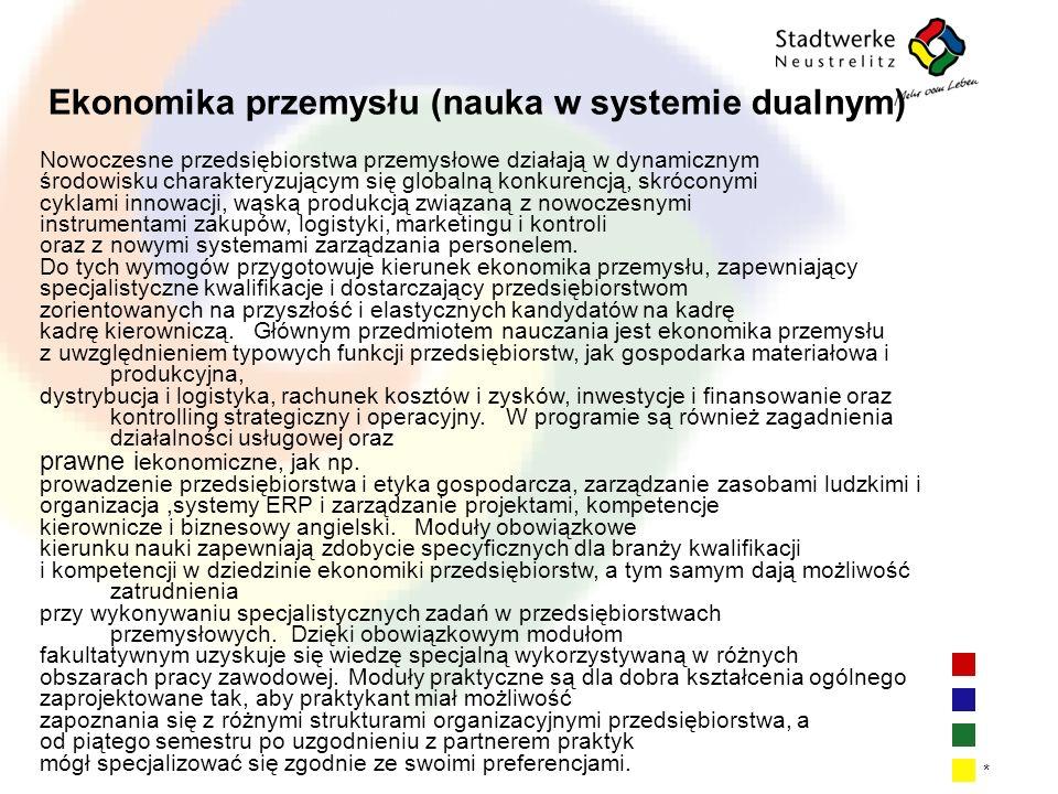 Ekonomika przemysłu (nauka w systemie dualnym)