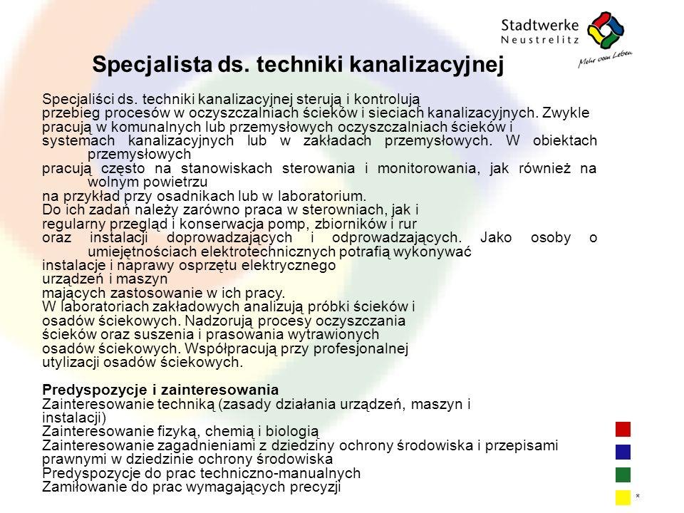 Specjalista ds. techniki kanalizacyjnej