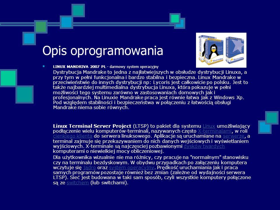 Opis oprogramowaniaLINUX MANDRIVA 2007 PL - darmowy system operacyjny.
