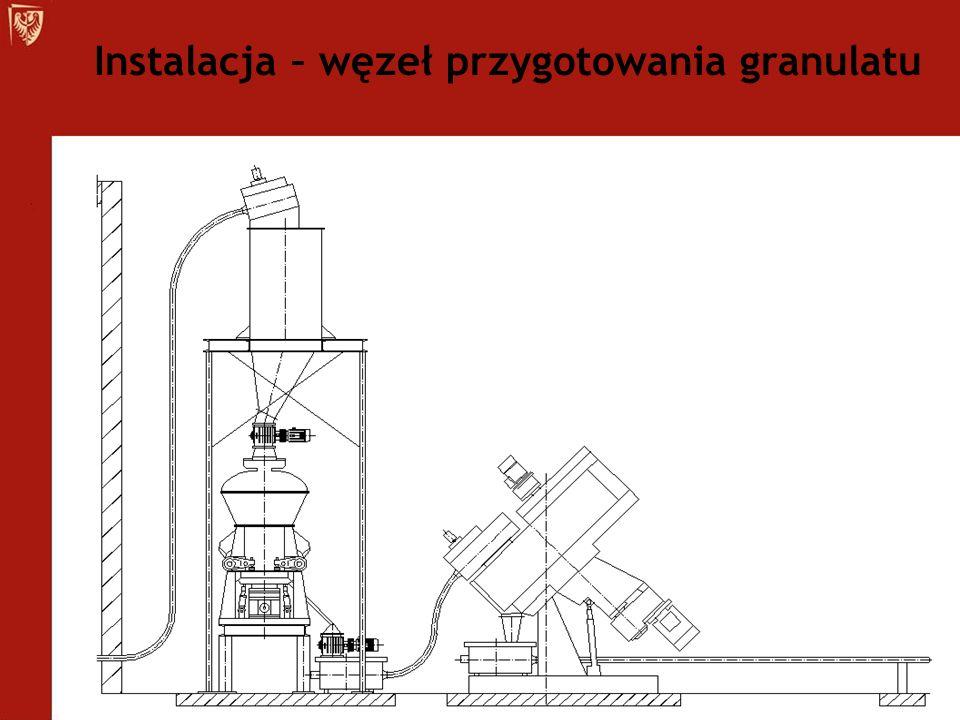 Instalacja – węzeł przygotowania granulatu