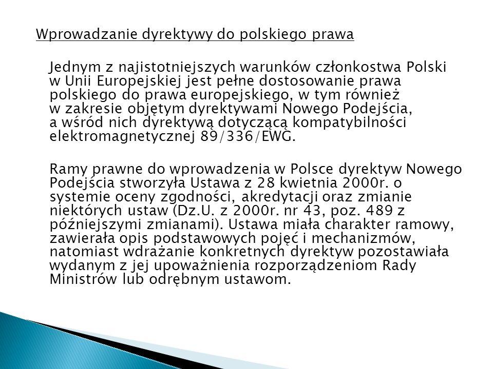 Wprowadzanie dyrektywy do polskiego prawa