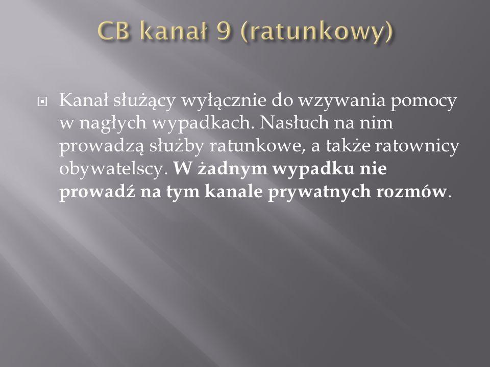 CB kanał 9 (ratunkowy)