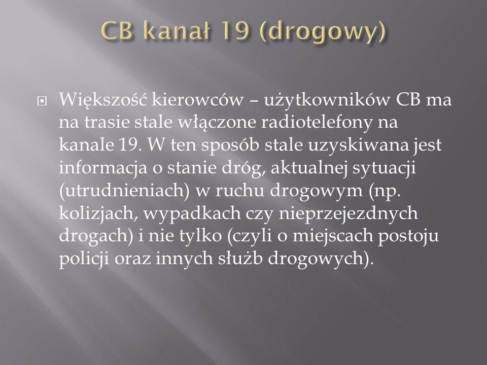 CB kanał 19 (drogowy)