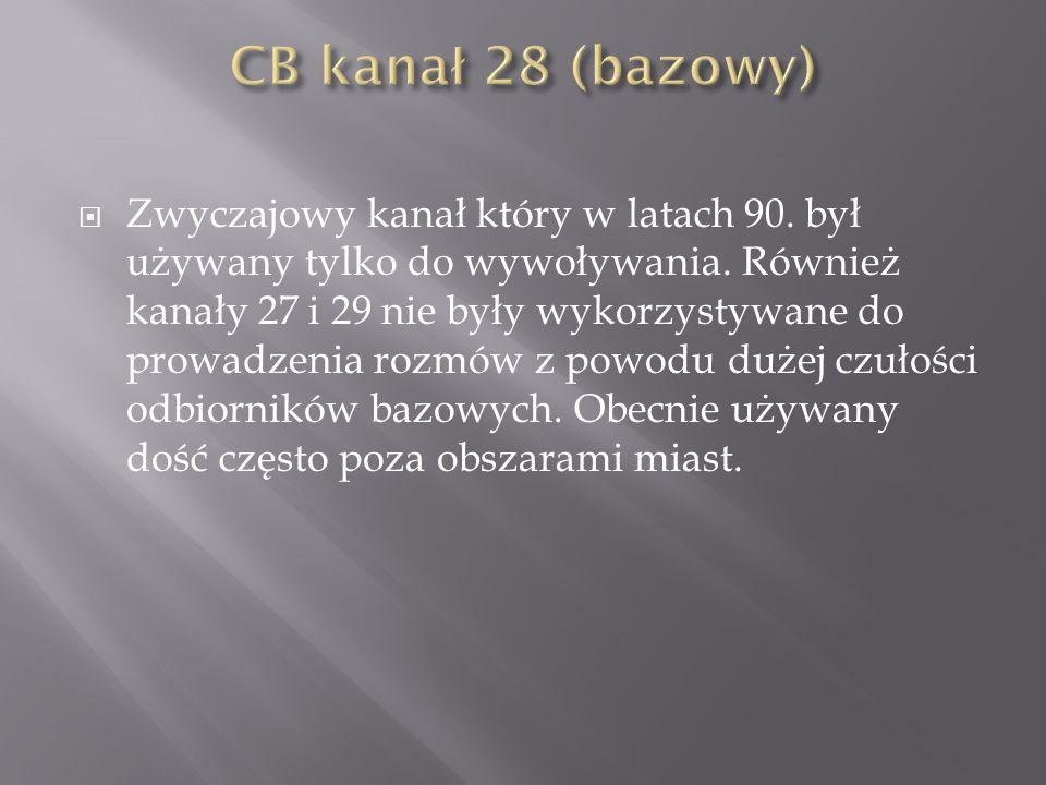 CB kanał 28 (bazowy)