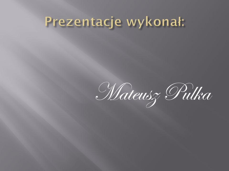 Prezentacje wykonał: Mateusz Pulka