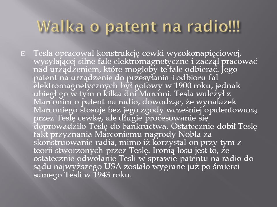 Walka o patent na radio!!!