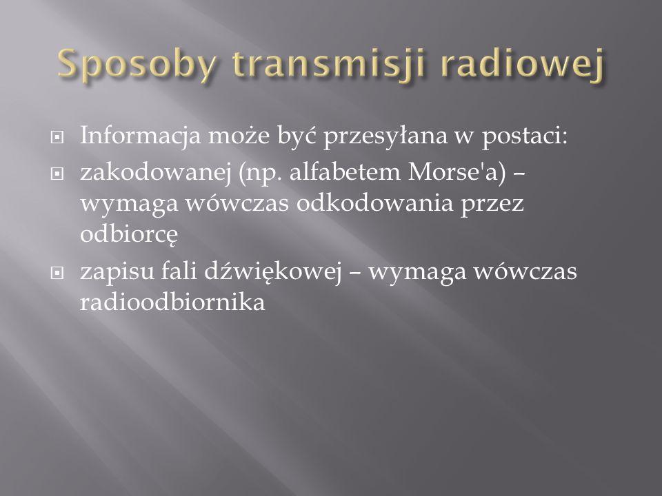 Sposoby transmisji radiowej