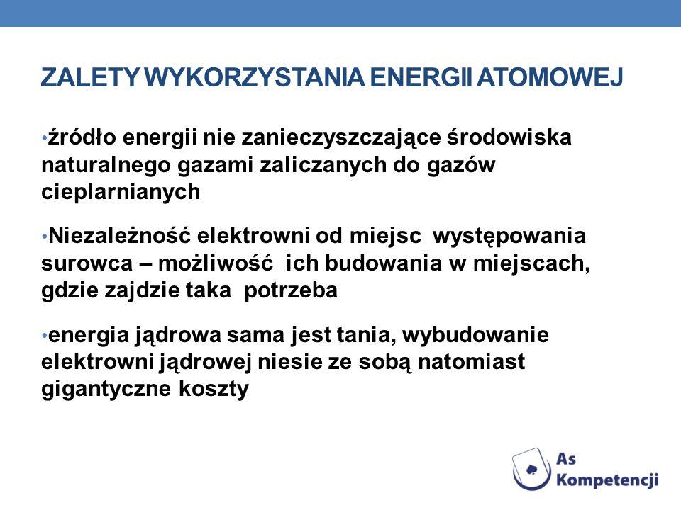 ZALETY WYKORZYSTANIA ENERGII ATOMOWEJ