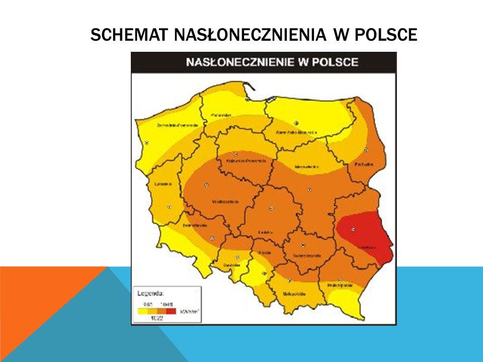 SCHEMAT NASŁONECZNIENIA W Polsce