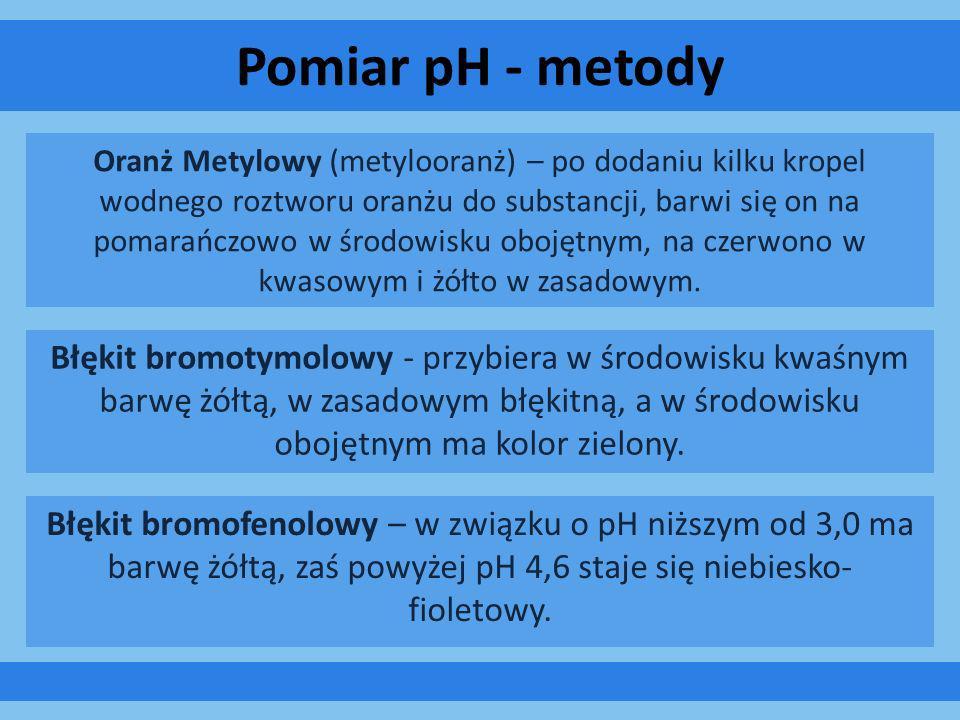 Pomiar pH - metody