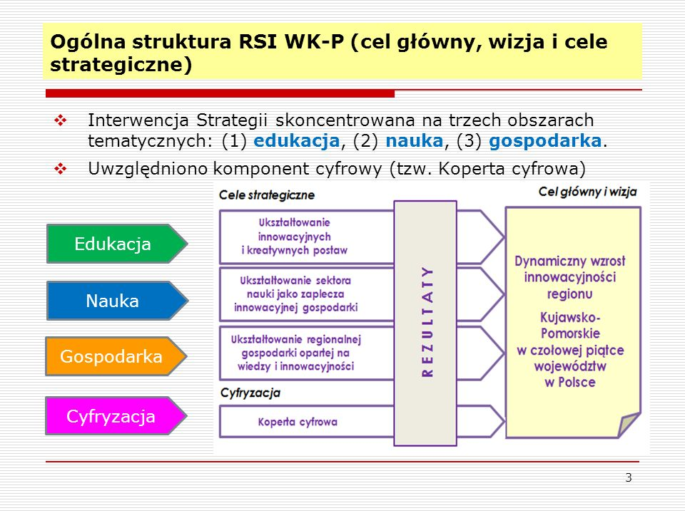 Ogólna struktura RSI WK-P (cel główny, wizja i cele strategiczne)