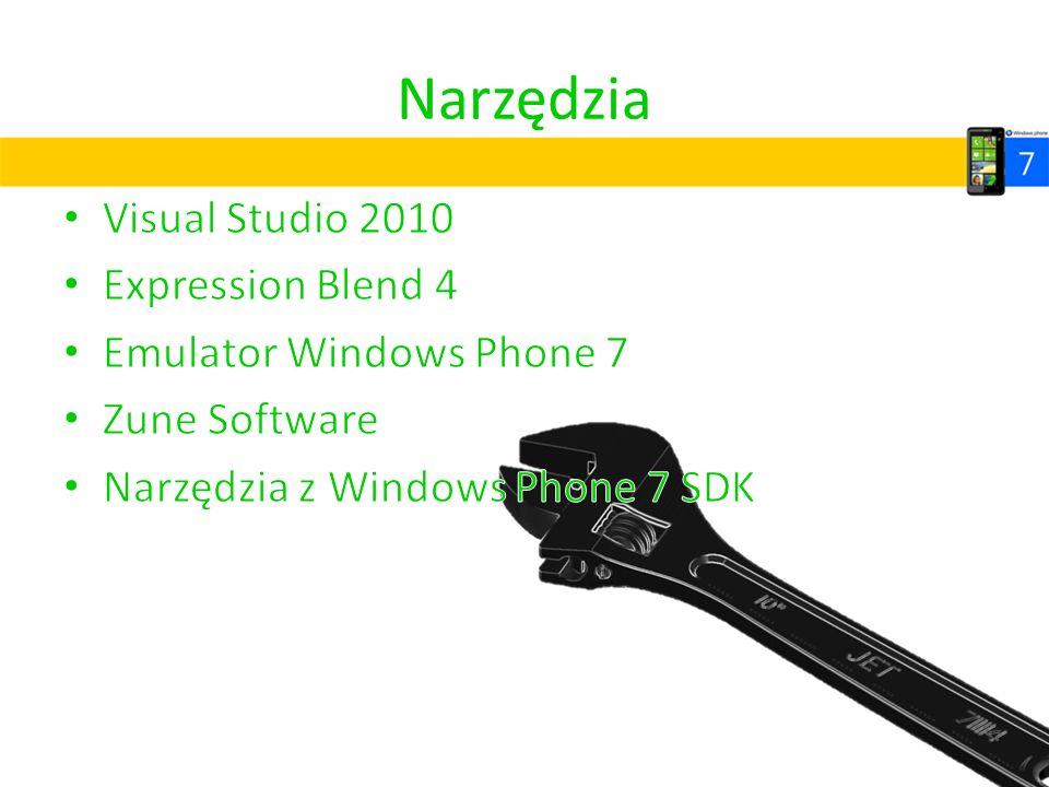 Narzędzia Visual Studio 2010 Expression Blend 4