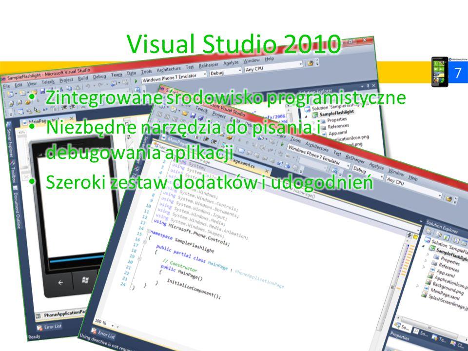 Visual Studio 2010 Zintegrowane środowisko programistyczne