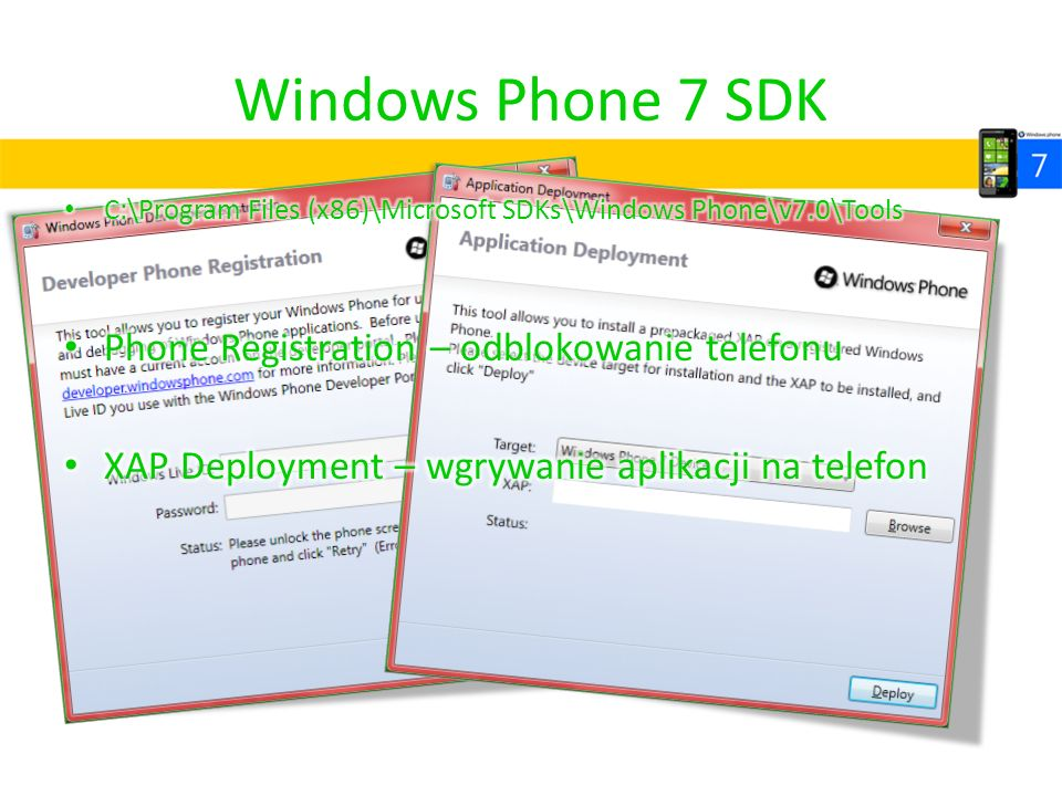 Windows Phone 7 SDK Phone Registration – odblokowanie telefonu