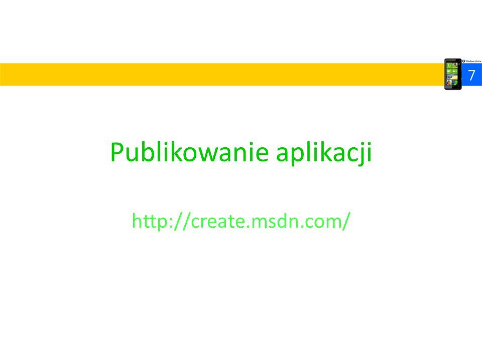 Publikowanie aplikacji