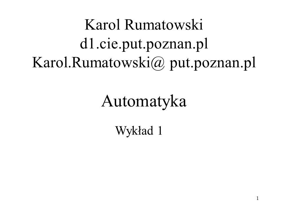 Karol Rumatowski d1. cie. put. poznan. pl Karol. Rumatowski@ put