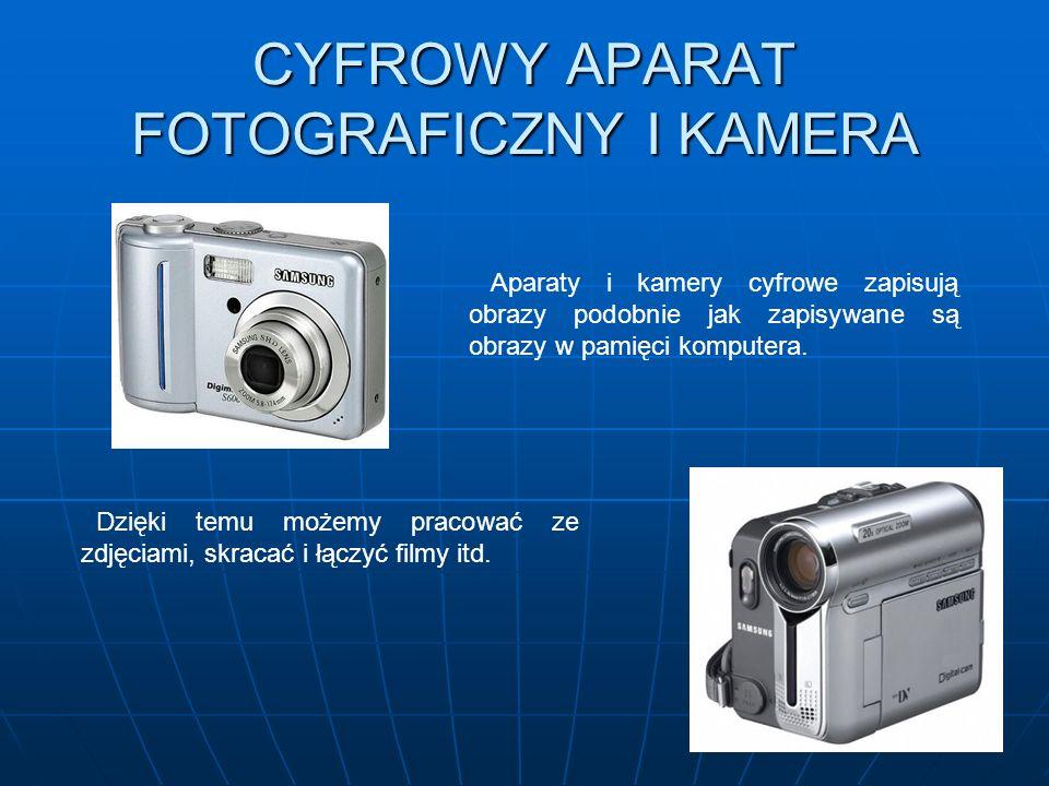 CYFROWY APARAT FOTOGRAFICZNY I KAMERA