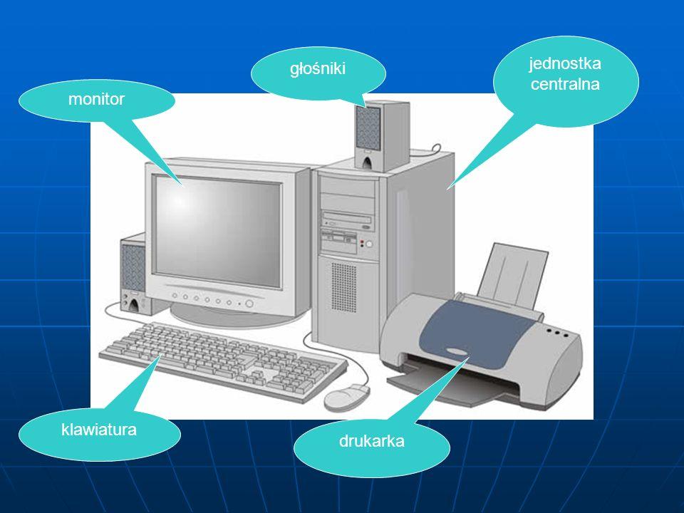 jednostka centralna głośniki monitor klawiatura drukarka