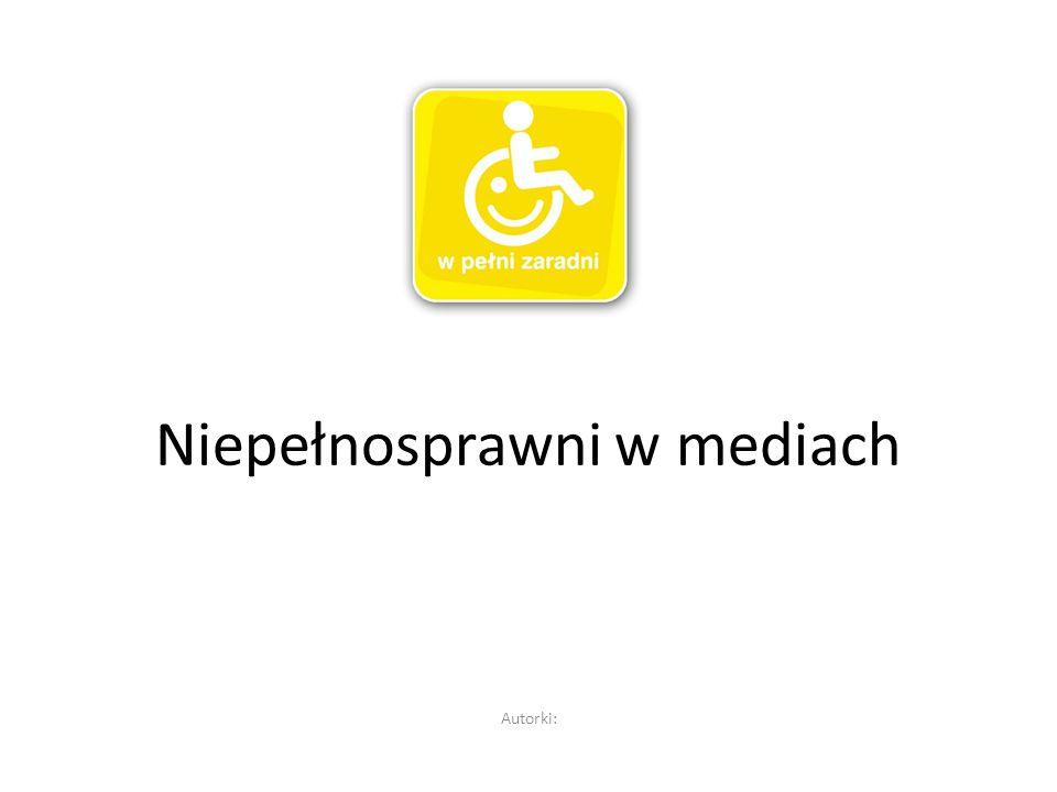 Niepełnosprawni w mediach