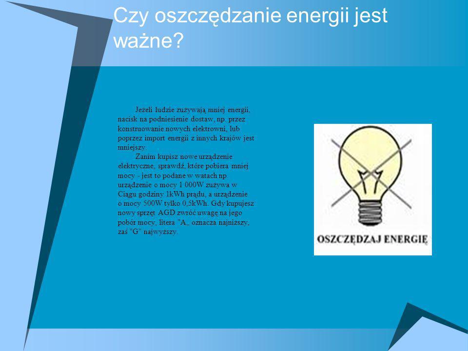 Czy oszczędzanie energii jest ważne