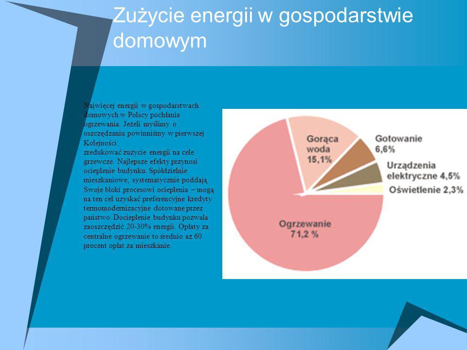 Zużycie energii w gospodarstwie domowym