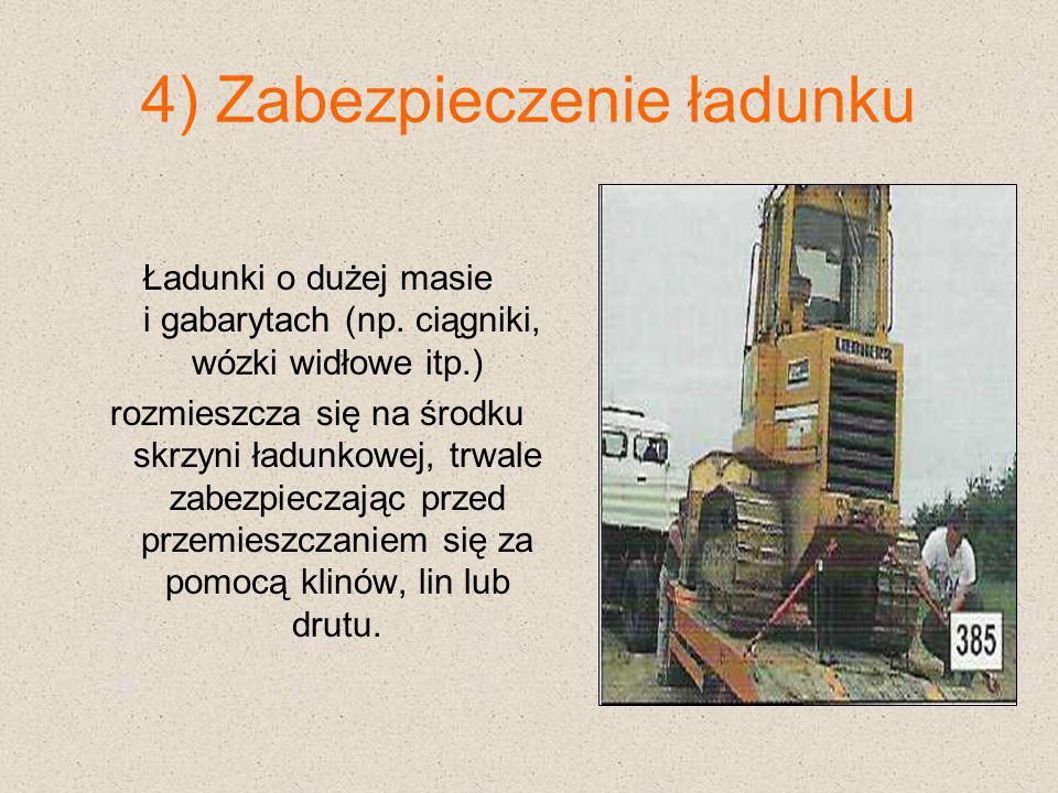 4) Zabezpieczenie ładunku