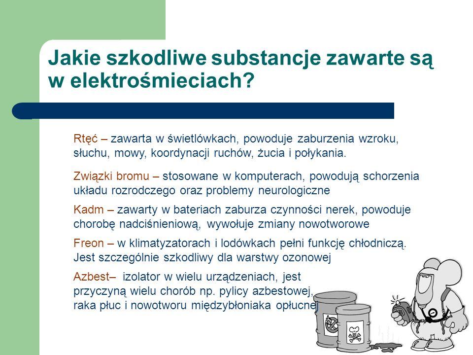 Jakie szkodliwe substancje zawarte są w elektrośmieciach
