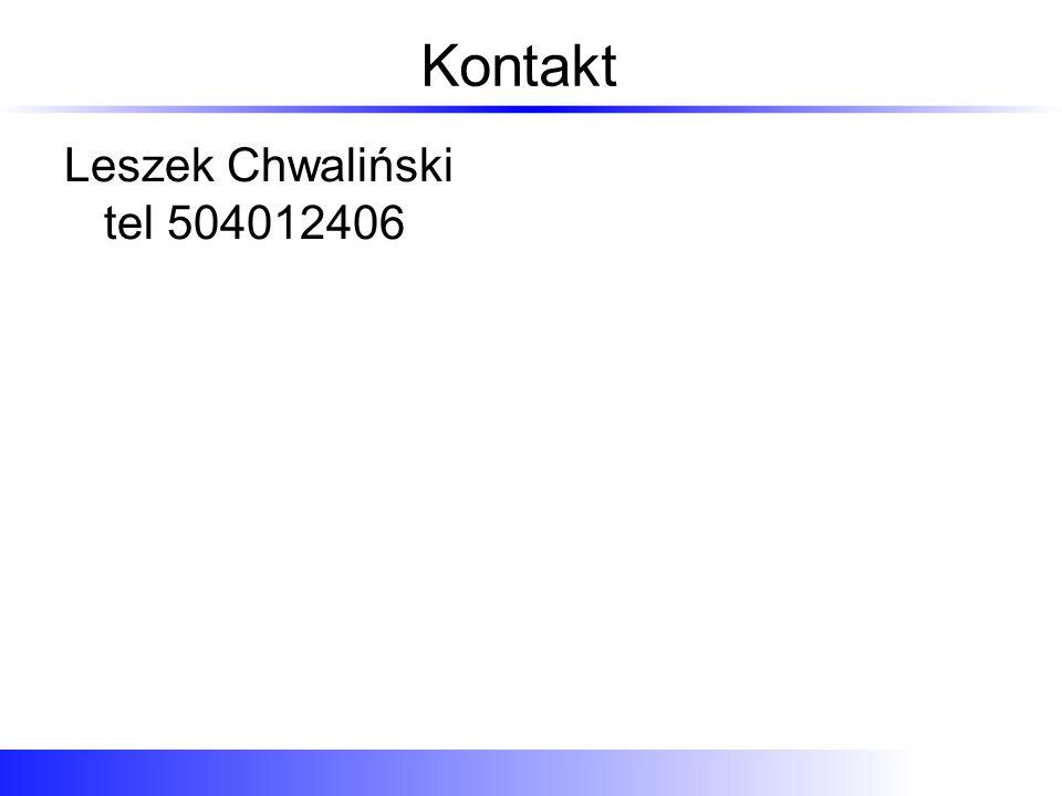 Kontakt Leszek Chwaliński tel 504012406