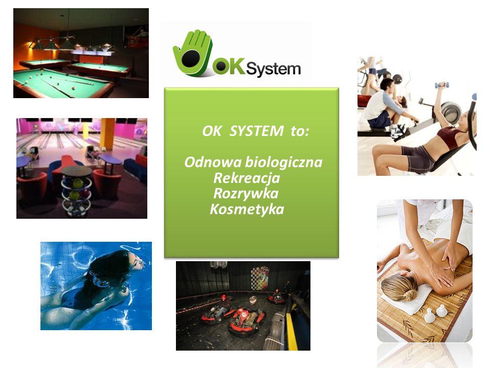 OK SYSTEM to: Odnowa biologiczna Rekreacja Rozrywka Kosmetyka