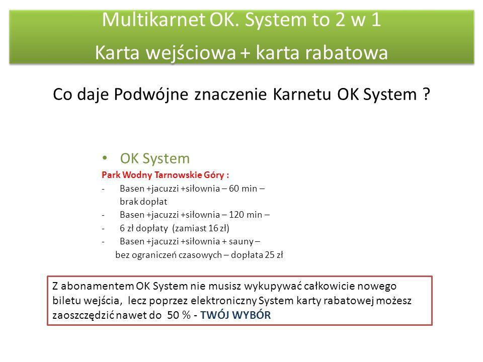 Co daje Podwójne znaczenie Karnetu OK System