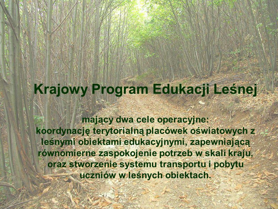 Krajowy Program Edukacji Leśnej mający dwa cele operacyjne: