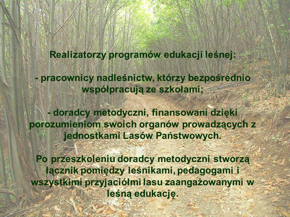Realizatorzy programów edukacji leśnej: