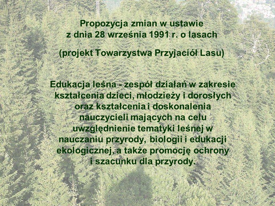 Propozycja zmian w ustawie z dnia 28 września 1991 r