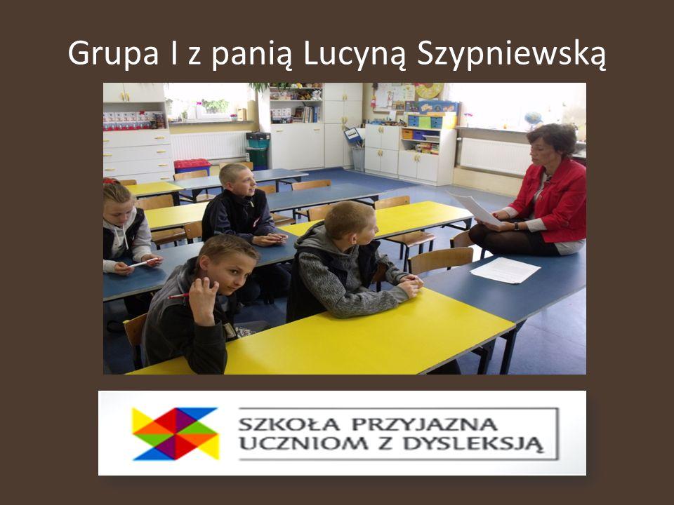 Grupa I z panią Lucyną Szypniewską
