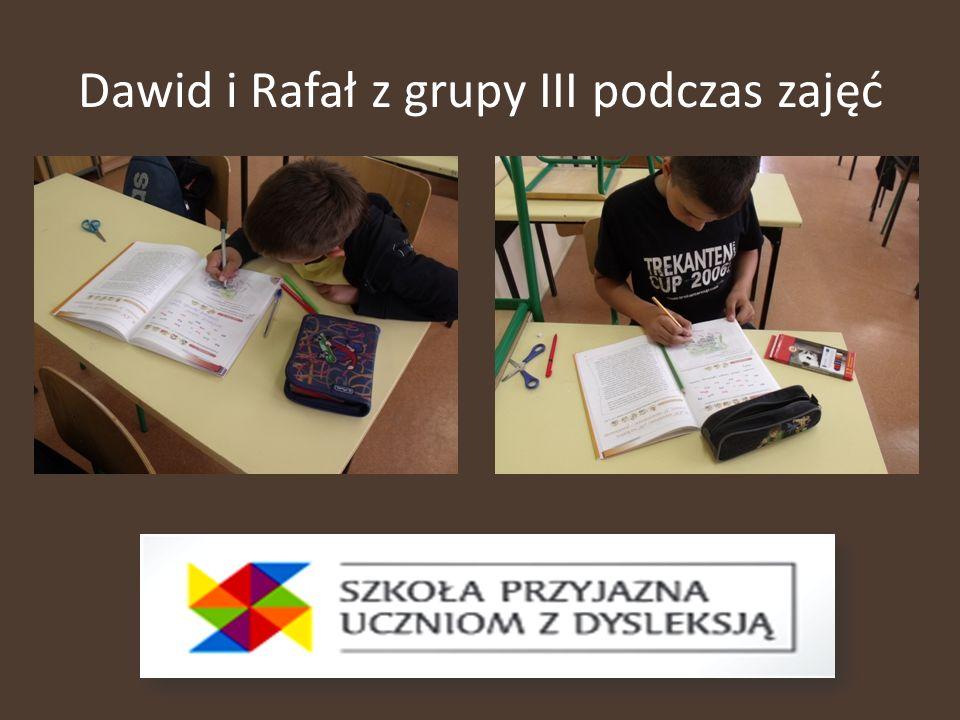 Dawid i Rafał z grupy III podczas zajęć